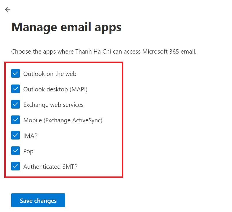Hướng dẫn kích hoạt SMTP, Pop, IMAP cho Office 365