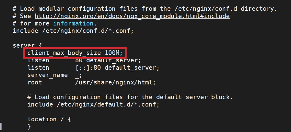 """Hướng dẫn sửa lỗi """"413 Request Entity Too Large"""" trên Nginx"""