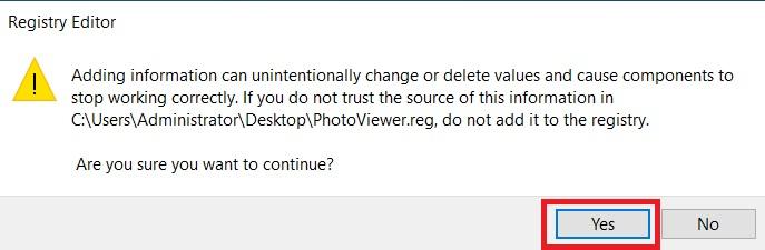 Hướng dẫn khôi phục Windows Photo Viewer trên windows 10