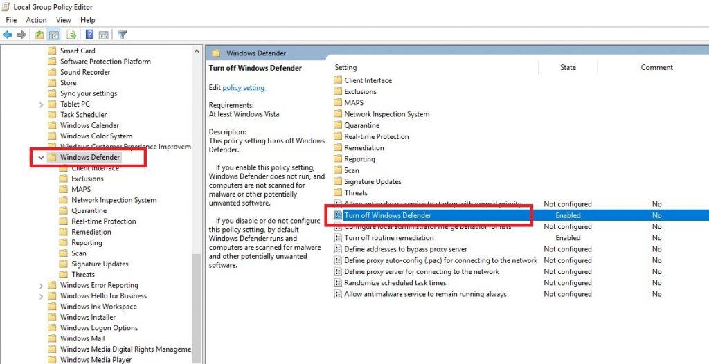 Hướng dẫn cách tắt Windows Defender trên Windows 10
